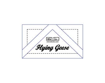 "Bloc Loc - Flying Geese Ruler 1 1/4x2 1/2"" - Quilting Tool"