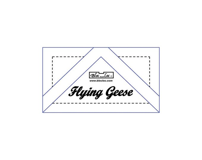"Bloc Loc - Flying Geese Ruler 1 1/4"" x 2 1/2"" - Quilting Tool"