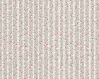 Joey Trees Gray by Deena Rutter for Riley Blake Designs (C8493 GRAY) - Children's Fabric - Cotton Quilting Fabric