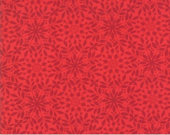 Aurora Blizzard Berry (27304 12) by Kate Spain for Moda Fabrics - Christmas Fabric - Kate Spain Christmas Fabric - Red Snowflake Fabric