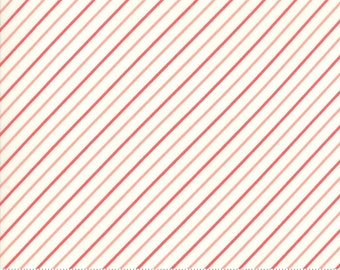 Early Bird Cream Red Stripe by Bonnie & Camille for Moda Fabrics (55196 27) - Cut Options Available