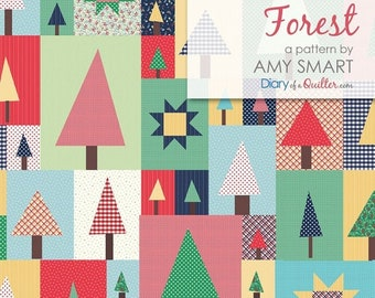 Pine Hollow Patchwork Forest Quilt Pattern Featuring Sugarhouse Park by Amy Smart (Diary of a Quilter) - Join Her Sew Along!