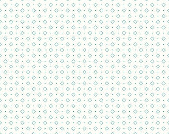 Bee Backgrounds By Lori Holt Diamond Turquoise (C6386-Turquoise)