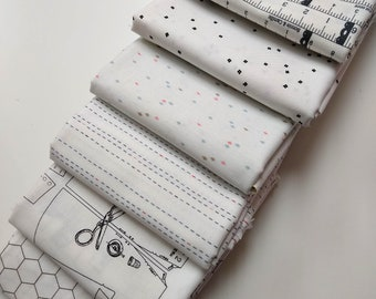 Low Volume Half Yard Bundle - (6) neutral prints