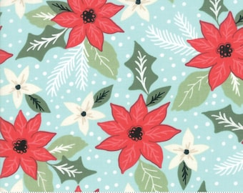 Little Tree by Lella Boutique - Christmas Bouquet - Frost (5091 16) Lella Boutique Little Tree for Moda Fabrics - Christmas Fabric