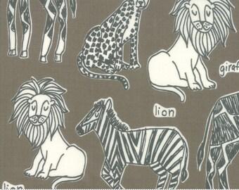 Safari Life Ash Safari Kingdom by Stacy Iest Hsu for Moda Fabrics  (20642 13) - Animal Fabric - Cut Options Available