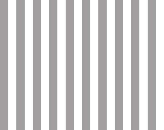 Riley Blake Designs, Half Inch Stripe in Gray (C530-40)