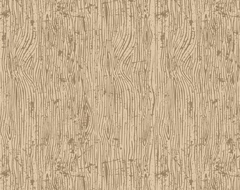 Lumberjack Aaron Cream Woodgrain by Buttermilk Basin for Riley Blake Designs (C8704-CREAM) - Cut Options Available