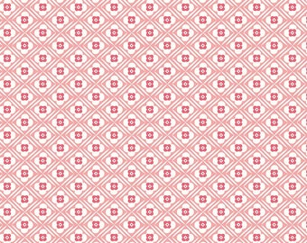 Granny Chic Pink Hugs by Lori Holt (Bee in My Bonnet) (C8511 PINK) - Riley Blake Designs - Lori Holt Granny Chic