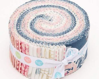 Blooms and Bobbins Rolie Polie  by Melissa Mora - Riley Blake Designs - Jelly Roll Fabric - Blooms and Bobbins Precut Fabric