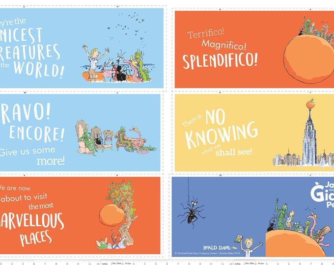 James and the Giant Peach Soft Book Panel - (P7744-Softbook)