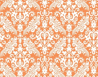 RBD, Medium Damask White on Orange (C830 60)