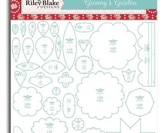 Granny's Garden Templates Sew Simple Shapes by Lori Holt - Includes 32 Templates to use with Lori's Granny Chic Fabric