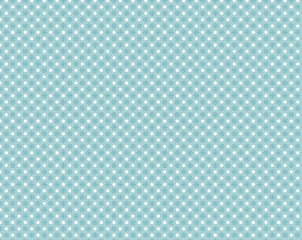 Autumn Love by Lori Holt Polka Dots Blue (C7367-BLUE)