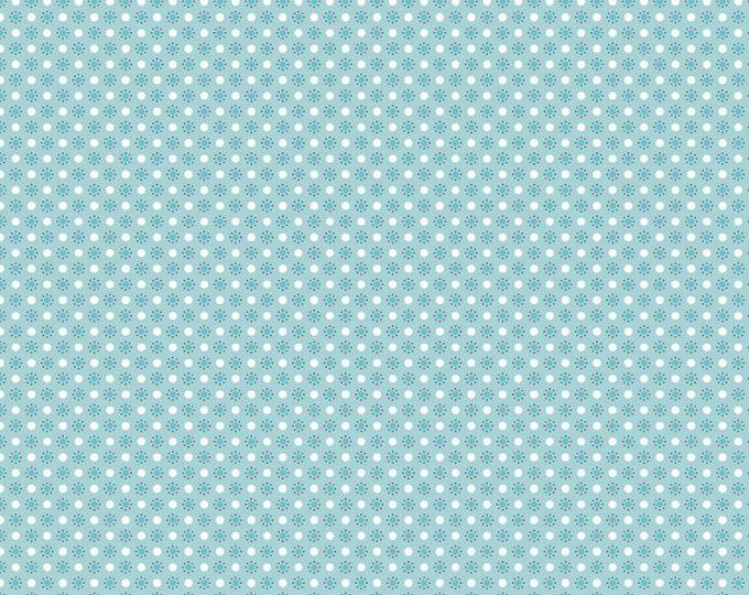 Autumn Love by Lori Holt Polka Dots Blue (C7367-BLUE)