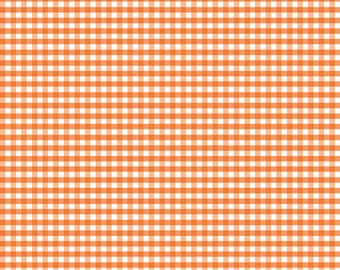 Orange Small Gingham by Riley Blake Designs  (C440 60) - Orange Gingham Fabric - Cut Options Available