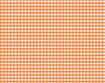 Riley Blake Designs, Small Gingham in Orange (C440 60)