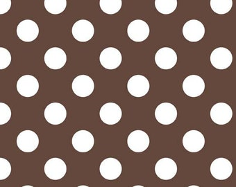 Riley Blake Designs, Medium Dots in Brown (C360 90)