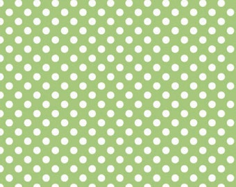 Riley Blake Designs, Small Dots in Green (C350 30)