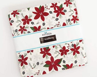 "Winterberry 10"" Stacker - Winterberry by My Mind's Eye Layer Cake - Riley Blake Designs - Christmas Fabric - 42 pieces 10"" x 10"""