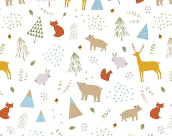In The Forest White Main Yardage by Riley Blake Designs (C8950-WHITE)  - Low Volume Fabric - Cut Options Available