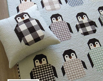Penguin Party - Pattern by Elizabeth Hartman (EH 041) - Penguin Quilt Pattern