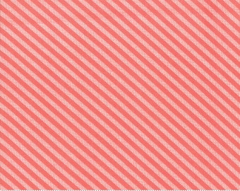Sugarcreek Rosy Striped by Corey Yoder (Little Miss Shabby) for Moda (29076 11) - Cut Options Available