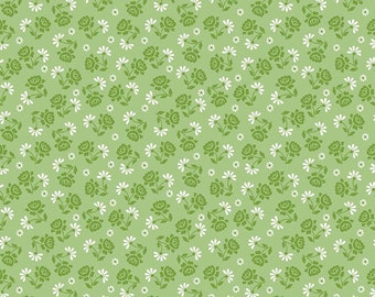 Granny Chic Green Roses by Lori Holt (Bee in My Bonnet) (C8523 GREEN) - Riley Blake Designs - Lori Holt Granny Chic