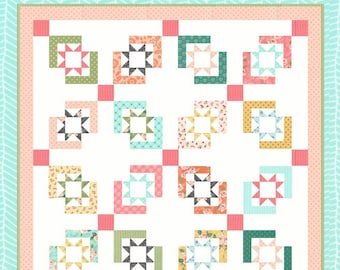 Star Crossed Quilt Pattern by Lella Boutique (LB-155) - Layer Cake or Jelly Roll friendly!