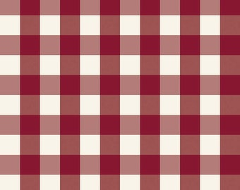 Winterberry - Red Check - My Mind's Eye - Riley Blake Designs - Christmas Fabric - Cut Options Available (C8448 RED)