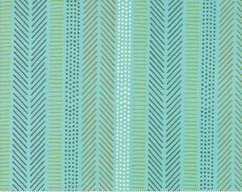Safari Life Aqua African Art by Stacy Iest Hsu for Moda Fabrics  (20648 20) - Animal Fabric - Cut Options Available