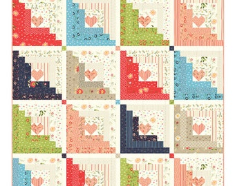 Hearts At Home Quilt Pattern  by Chelsi Stratton Designs using Harpers Garden fabric (CSD 107)