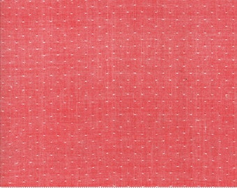 Bonnie and Camille Wovens Red Dot for Moda Fabrics  (12405 19) - Red Polka Dot Fabric - Woven Fabric