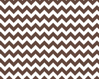 Brown Small Chevron by Riley Blake Designs - SALE (C340 90) CLEARANCE FABRIC