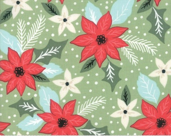 Little Tree by Lella Boutique - Christmas Bouquet - Pine (5091 12) Lella Boutique Little Tree for Moda Fabrics - Christmas Fabric
