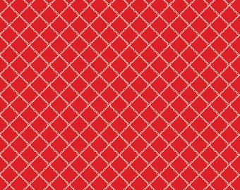 Simple Goodness Red Ruffled Plaid by Tasha Noel  (C7935-RED)
