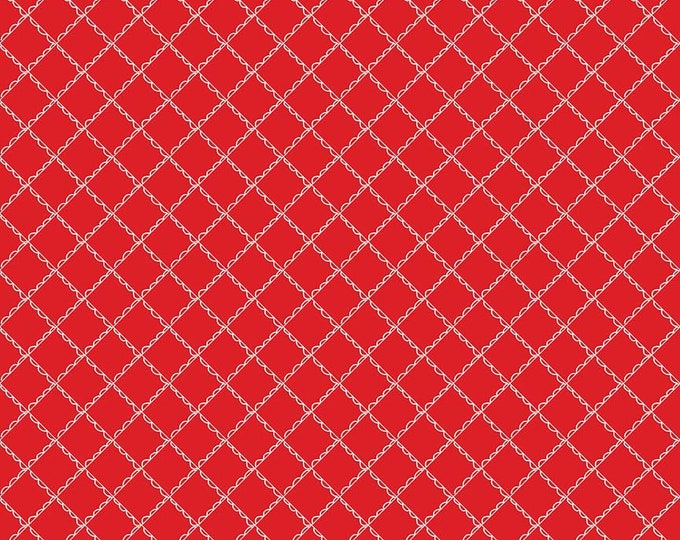 """Simple Goodness Red Ruffled Plaid by Tasha Noel  (C7935-RED) -13"""" remnant"""