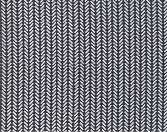 The Print Shop Black Against The Grain Yardage by Sweetwater for Moda Fabrics  (5744 33) - Cut Options Available
