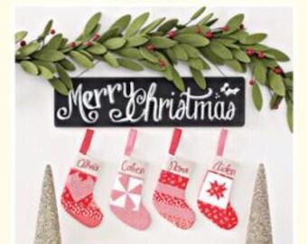 Joyful Stocking Ornaments (CW 990) Cotton Way