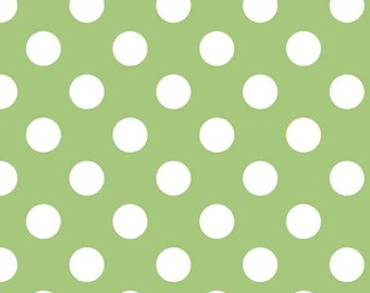 Green Medium Dots  (C360 30) Riley Blake Designs - Green Polka Dot Fabric - Green Basic Fabrics - Dot Fabric - Quilting Cotton