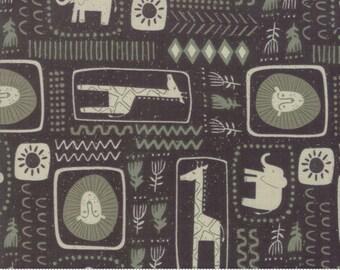 Safari Life Black African Block Print by Stacy Iest Hsu for Moda Fabrics  (20644 15) - Animal Fabric - Cut Options Available