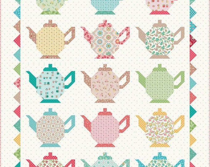 Granny's Tea Pots Quilt Kit by Lori Holt (Bee in My Bonnet) For Riley Blake PRESALE