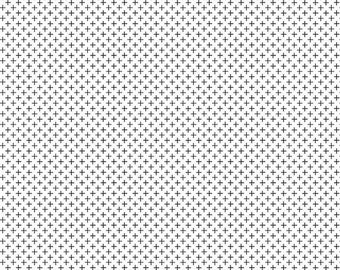 Let Them Be Little Plus White by Simple Simon and Co.  for Riley Blake Designs SALE! (C7514 WHITE) - Low Volume Fabric - Black Plus on White