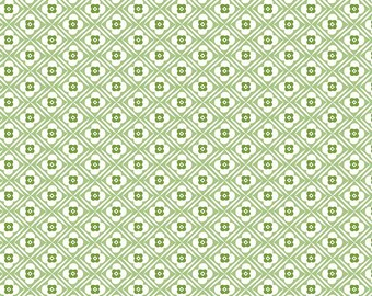 Granny Chic Green Hugs by Lori Holt (Bee in My Bonnet) (C8511 GREEN) - Riley Blake Designs - Lori Holt Granny Chic