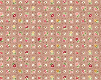 Granny Chic Brown Garden by Lori Holt (Bee in My Bonnet) (C8521 BROWN) - Riley Blake Designs - Lori Holt Granny Chic