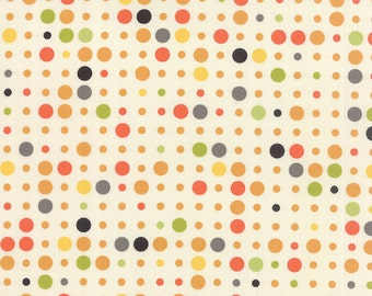 Reel Time, Dots in Chalk Citrus (1563 13) by Zen Chic - cut options available