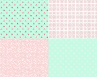 A Little Sweetness by Tasha Noel Fat Quarter Panel (FQP6511-Mint)