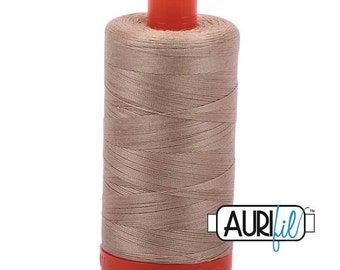 MK50 2326 - Sand - Aurifil Cotton Thread Large Spool (1422 yds)