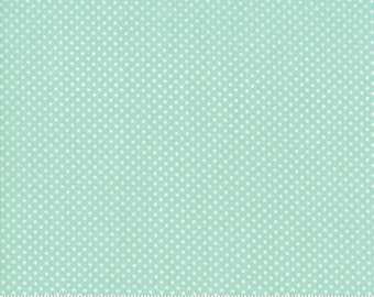 Early Bird Aqua Dots by Bonnie & Camille for Moda Fabrics (55195 12) - Cut Options Available