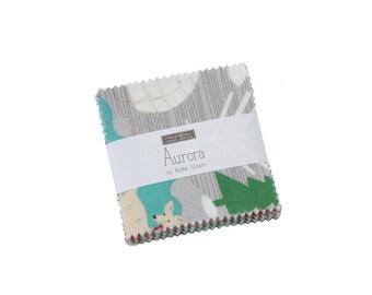 "Aurora- Mini Charm -  by Kate Spain - 2.5"" x 2.5"" squares - 42 pieces - Kate Spain Aurora for Moda Fabrics (27300MC)"